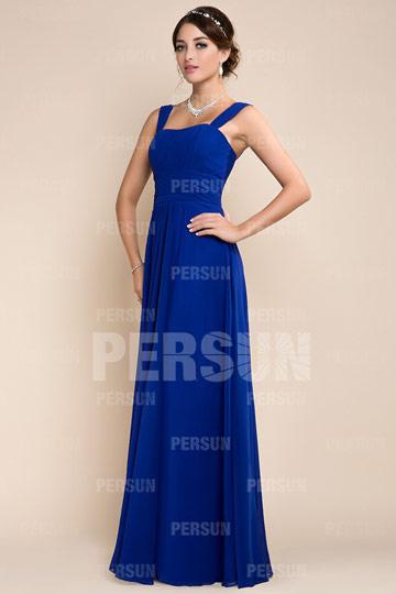 Robe demoiselle d'honneur bleu décolleté carré longue.jpg