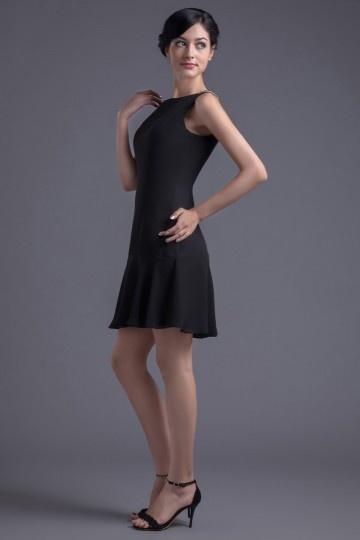 Petite robe noire mousseline dos nu en V.jpg