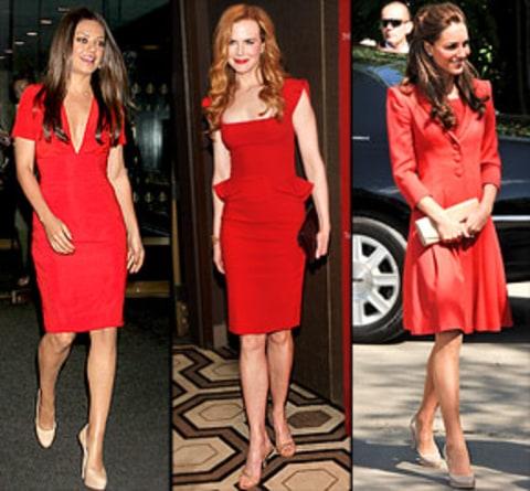 Escarpins à talon avec robe chic rouge.jpg