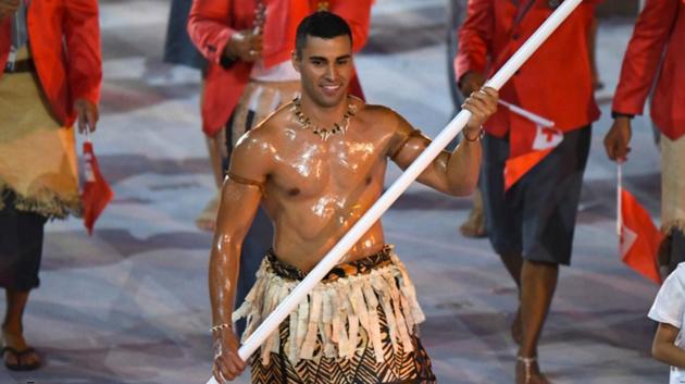 The Tongan flag bearer.jpg