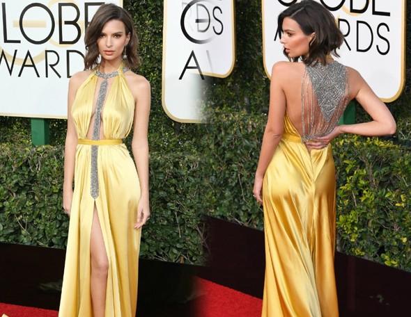 robe-jaune-sexy-emily-ratajkowski