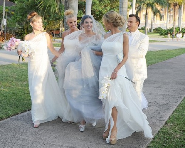 Adriana De Moura and Frederic Marq of The Real Housewives of Miami Wedding
