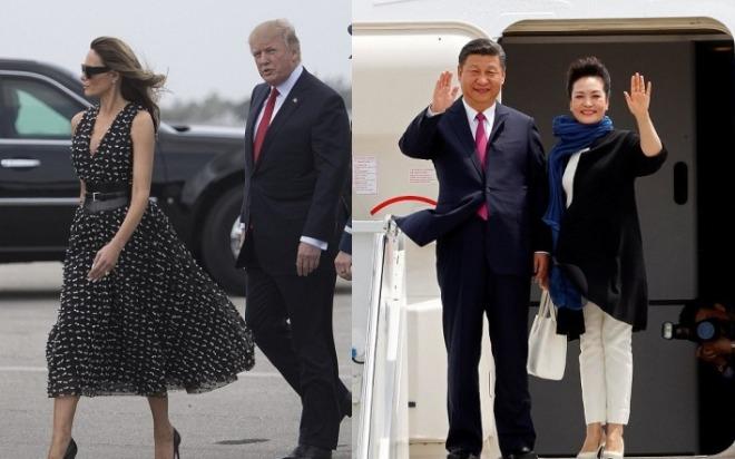Melania et Donald Trump & Peng Liyuan et Xi jinping.jpg