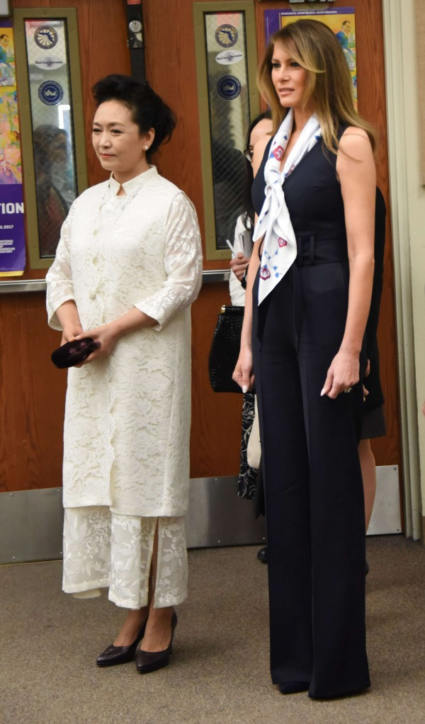 Peng liyuan and Melania trump.jpg