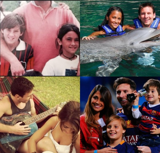 Messi et sa famille amour