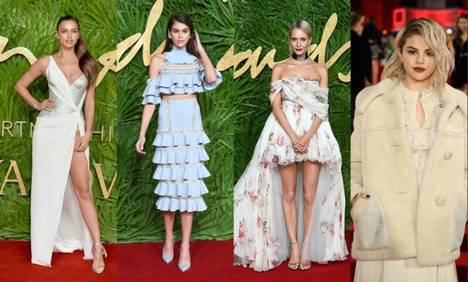 Tapis rouge par les Fashion Awards 2017